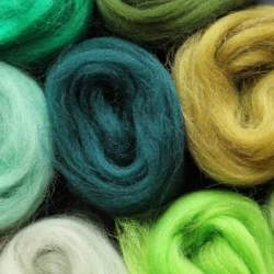 Merino mixed pack green - 100g
