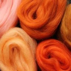Merino mixed pack orange  - 100g