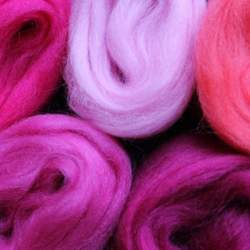 Merino mixed pack pink - 100g