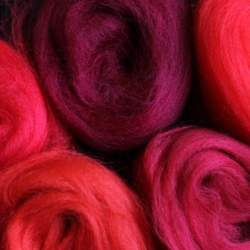 Merino mixed pack red  - 100g