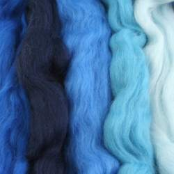 Merino mixed pack  blue - 250g