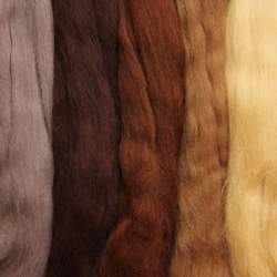 Merino mixed pack brown - 250g