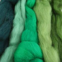 Merino mixed pack  green - 250g
