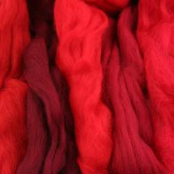 Merino mixed pack  red - 250g