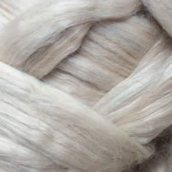 Fawn Alpaca / Bleached Tussah Silk - 100g