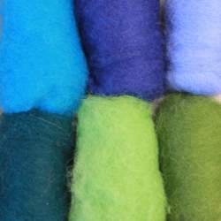Bergschaf Blue/Green mixed bag - 60g