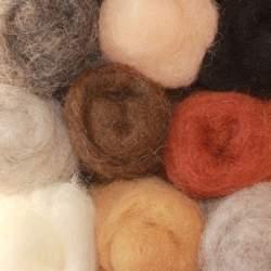 Bergschaf mixed bag of animal colours - 120g