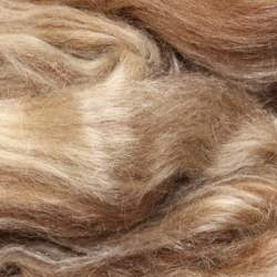 Brown Blue Faced Leicester/Tussah Silk - 100g