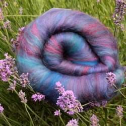 Bejewelled carded wool art batt - 100g
