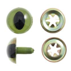 Cats/Snake/Dragon Eyes 12mm Green - 1 pair
