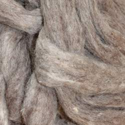 Carded Corriedale sliver grey - 100g
