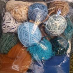 Craft Pack Sea/Rust - 100g mixed yarn and fibre