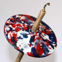 Drop spindle - 32g - Recycled plastic (red/white/blue)