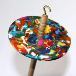 Drop spindle - 34g - Recycled plastic (multicoloured)