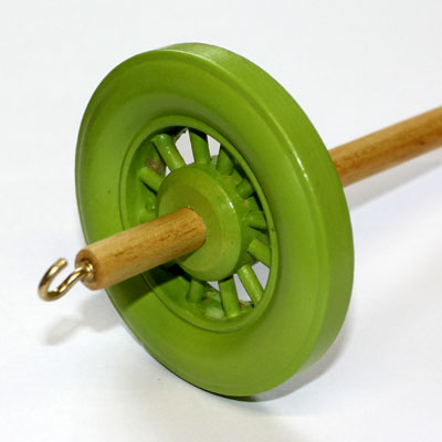 Drop spindle - 35g to 38g - Lime Green