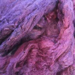 Hand Dyed Mulberry silk cap - Bilberry