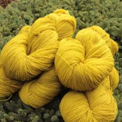 Merino lace weight yarn 100g - Mustard