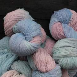 Merino lace weight yarn 100g - Pastel Clouds