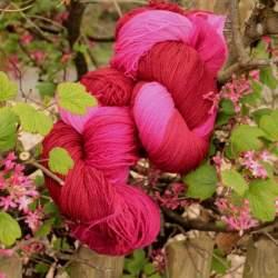 Merino lace weight yarn 100g - Raspberry