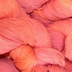 Merino lace weight yarn 100g - Sunset