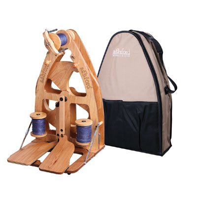 Ashford Joy 2 Spinning Wheel - Double Treadle & Bag