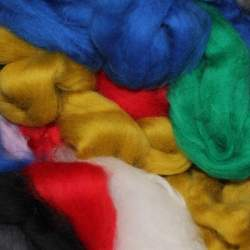 Dyed Merino top - bin end 100g - see description for colours