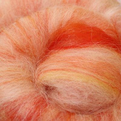 Norwegian Soft Marigold carded wool batt - 100g
