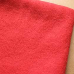 Poppy Red Merino wool prefelt - 50cm × 50cm