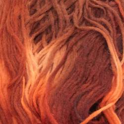 Space Dyed Pencil Roving - Earth - 50g