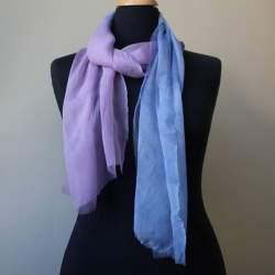 Nisa Silk chiffon scarf length 179cm x 34cm