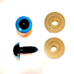 Toy Eyes 10mm Blue - 5 pairs