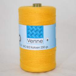 Venne 8/2 Organic Unmercerised Cotton - Deep Yellow 5-1005