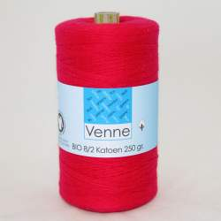 Venne 8/2 Organic Unmercerised Cotton - Flaming Red 5-3003