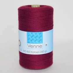 Venne 8/2 Organic Unmercerised Cotton - Deep Red 5-3005
