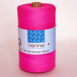 Venne 8/2 Organic Unmercerised Cotton - Bright Pink 5-3008