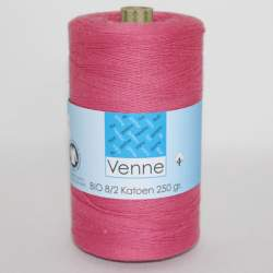 Venne 8/2 Organic Unmercerised Cotton - Pastel Red 5-3013