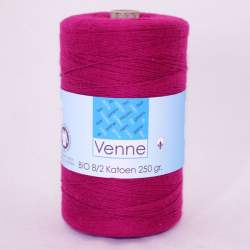 Venne 8/2 Organic Unmercerised Cotton - Raspberry 5-3020