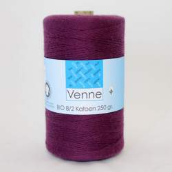 Venne 8/2 Organic Unmercerised Cotton - Deep Plum 5-4077
