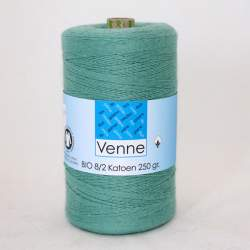 Venne 8/2 Organic Unmercerised Cotton - Green Turquoise 5-5005
