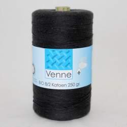 Venne 8/2 Organic Unmercerised Cotton - Anthracite 5-7006