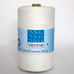 Venne 8/2 Organic Unmercerised Cotton - Linen White 5-7007